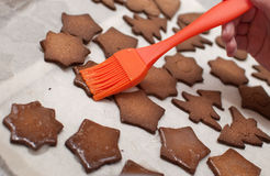 Christmas ginger biscuit Royalty Free Stock Image