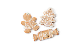 Christmas ginger biscuits to decorate the Christmas tree Royalty Free Stock Image