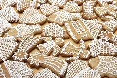 Christmas Ginger Bread Cookies Royalty Free Stock Photos