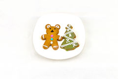 Christmas Ginger Bread. Every festival, we will have the cookies, there are all sorts of modelling Royalty Free Stock Photography