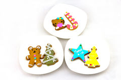 Christmas Ginger Bread. Every festival, we will have the cookies, there are all sorts of modelling Royalty Free Stock Image