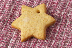 Christmas ginger butter cookie Royalty Free Stock Images