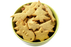Christmas ginger butter cookies Royalty Free Stock Photo