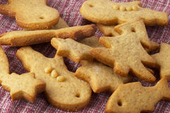 Christmas ginger butter cookies Stock Images