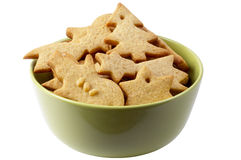 Christmas ginger butter cookies Royalty Free Stock Images