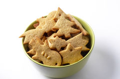Christmas ginger butter cookies Royalty Free Stock Photography