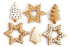 Christmas Ginger cookies background. Royalty Free Stock Images