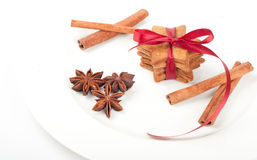 Christmas ginger cookies with spices Royalty Free Stock Image