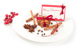 Christmas ginger cookies with spices Stock Images