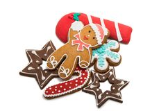 christmas ginger cookies  Royalty Free Stock Images