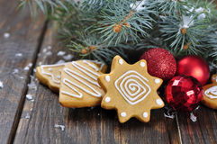 Christmas Ginger and Honey cookies Royalty Free Stock Photos