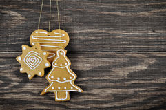 Christmas Ginger and Honey cookies Stock Photo