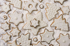 Christmas Ginger and Honey cookies, variety of Christmas cookies. Christmas Ginger and Honey cookies (Christmas sweets), Preparing for Christmas Royalty Free Stock Photos