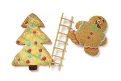 Christmas gingerbead cookies Royalty Free Stock Images