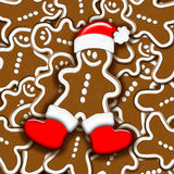 Christmas Gingerbread. Sweet Gingerbread Background for Christmas Royalty Free Stock Images