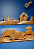 Christmas gingerbread. Theme for Christmas time and New Year Royalty Free Stock Photos