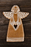 Christmas gingerbread angel Royalty Free Stock Image