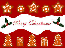 Christmas gingerbread background Royalty Free Stock Photography