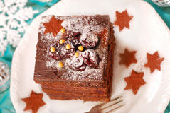 Christmas gingerbread cake Royalty Free Stock Photography