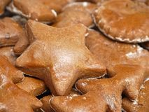 Christmas gingerbread cakes Stock Image