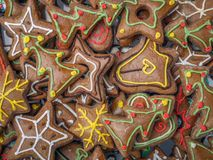 Christmas gingerbread cakes Stock Photography