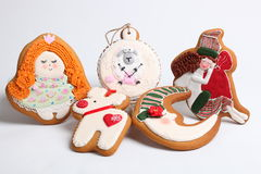 Christmas gingerbread cakes by the year sheep Royalty Free Stock Photos