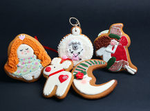 Christmas gingerbread cakes by the year sheep Royalty Free Stock Image