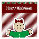 Christmas gingerbread card Royalty Free Stock Image