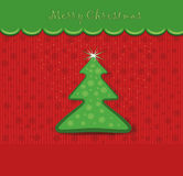 christmas gingerbread card tree Stock Photos