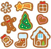 Christmas gingerbread collection 1 Royalty Free Stock Image