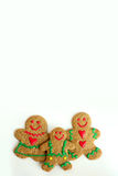 Christmas Gingerbread Cookie Family Isolated on White Background Royalty Free Stock Images