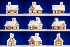 Christmas gingerbread cookie house with snow Royalty Free Stock Photos