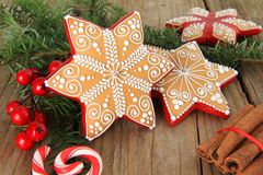 Christmas gingerbread cookie Royalty Free Stock Photos