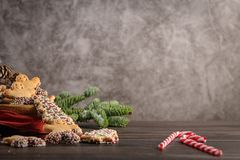 Free Christmas Gingerbread Cookies Stock Photography - 135072452