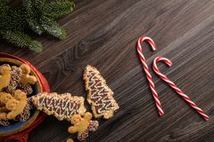 Free Christmas Gingerbread Cookies Stock Image - 135072551