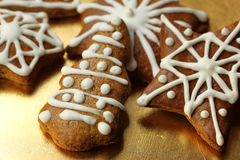 Christmas gingerbread cookies Royalty Free Stock Photos