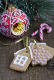 Christmas gingerbread cookies Stock Photos