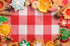 Christmas gingerbread cookies Stock Images
