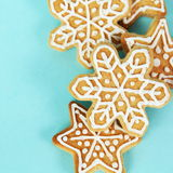Christmas Gingerbread Cookies Border Square Royalty Free Stock Images