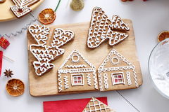 Christmas gingerbread cookies Stock Photography