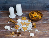 Christmas gingerbread cookies with different decoration Stock Images