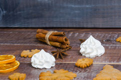 Christmas gingerbread cookies with different decoration Stock Image