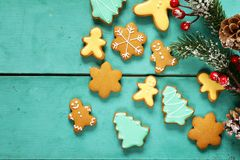 Christmas gingerbread cookies holiday gift Stock Photography