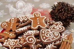Christmas gingerbread cookies Stock Photo