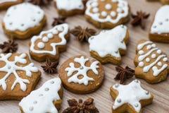 Christmas Gingerbread Cookies Stock Photos