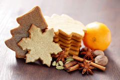 Christmas gingerbread cookies Royalty Free Stock Photo