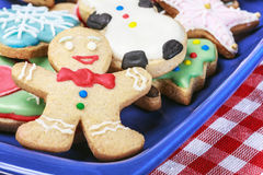 Christmas gingerbread cookies homemade. On the wooden table Stock Photos