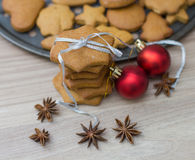 Christmas Gingerbread Cookies Royalty Free Stock Images