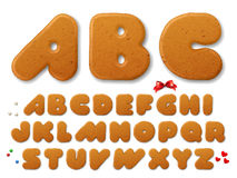 Christmas gingerbread cookies letters Royalty Free Stock Photography