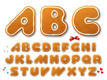Christmas gingerbread cookies letters Stock Image